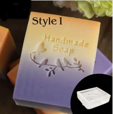 Bird Pattern Transparent Handmade Soap Stamp with Handle 4 Little Birds On A Branch Acrylic Soap Making Chapter Custom Stamps (2)
