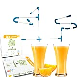 Crazy Straws Fun Novelty Straw, Swirly Straws for kids, 32+2pcs Cool Curly Reusable Plastic Drinking Straw with Brush, Fancy Funky Gifts Straws for Party Beverage