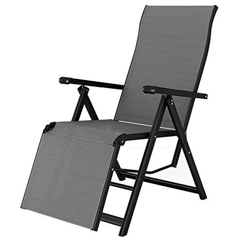 Liegen Sommer Cool Beach Chair Balkon Home Leisure Tragbarer Lounge Chair Office Einfacher Siesta Stuhl (Color : Gray, Size : 70 * 58 * 110cm)