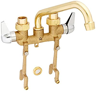 Homewerks 3310-255-RB-B Homewerks Two Handle Laundry Tray Faucet with Straddle Legs, Rough Brass,