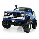smallJUN RC Cars for Girls, Wpl C24 2.4G Fai da Te RC Car Kit 4Wd Telecomando Crawler off-Road Buggy Moving Machine Giocattoli per Bambini, Blu