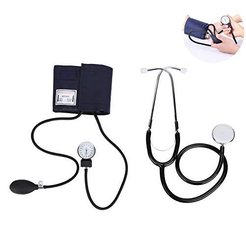 Zyyini Kit de Monitor de presión Arterial, Kit de Estetoscopio de esfigmomanómetro aneroide Profesional Inflable, Monitor de Pulso de frecuencia cardíaca de Ayuda