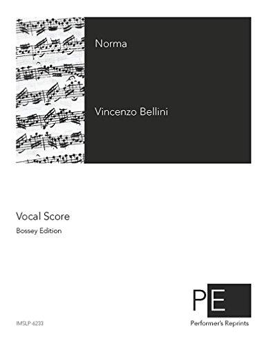 Norma - Vocal Score Italian/English