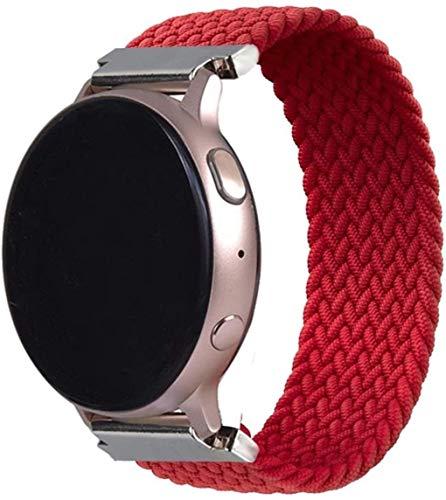 LRJBFC 2020 El último último Bucle Solitario Trenzado de 20 mm es Adecuado para Samsung Galaxy Watch 46mm 42mm, para Huawei GT 2 (Color : Red, Size : L(20mm))