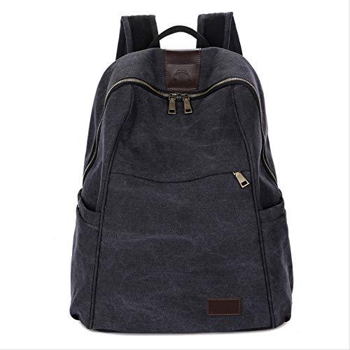 Nuova Vintage Tide Girl borsa zaina all'aperto borsa borsa a tracolla borsa da viaggio 30cm x 34cm x 12cm Nero (piccolo): 30 x 34 x 12CM