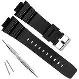 Natural Poly Urethane Replacement Watch Band Strap for Casio Mens G-Shock DW-5900 DW-6100 DW-6695 DW-6900 G-6900 GW-M5610 DW-5600E GW-6900 (J1)