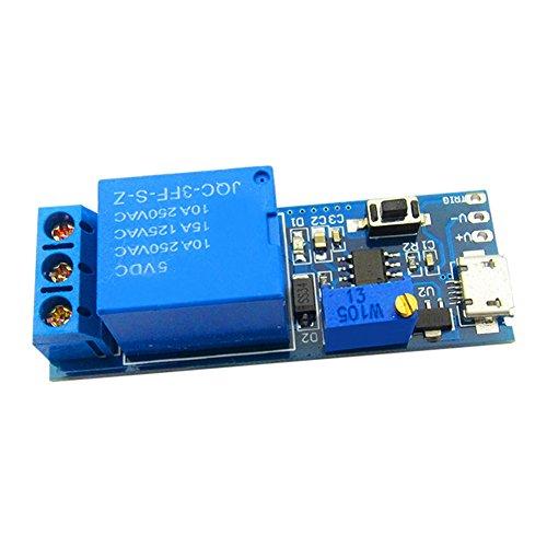 LianShi Temporisateur Multifonction Module de temporisation Interrupteur de Commande du Cycle de Relais de Commutation de l'horloge réglable 0 à 24 Secondes DC 5-30V