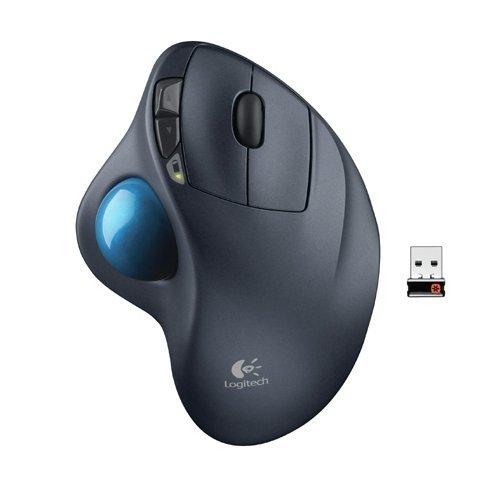 LOGITECH 910001799 M570 Wireless Trackball, vier Tasten, Scroll, schwarz/blau
