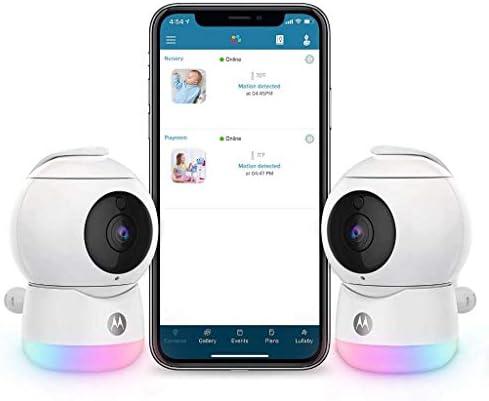 Motorola Peekaboo Twin Cameras WiFi 1080p Video Baby Monitor Multi Color Night Light Two Way product image
