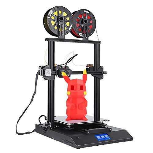 Stampante 3D a due colori Kit fai da te a 4.3 pollici 100 mm / s Touch Screen ad alta velocità con livellamento automatico Stampante 3D con 2 ventole di raffreddamento per l'edilizia Giochi per bambin(UE)