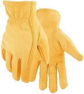 Golden Stag L Deerskin Driver Gold Gloves