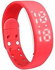 3D Smart Bracelet,Sleep Monitor Bracelet RED color
