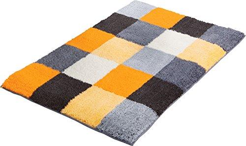 Erwin Müller Badematte, Badteppich, Badvorleger rutschhemmend gelb Größe 60x90 cm - kuscheliger Hochflor, für Fußbodenheizung geeignet (weitere Größen)