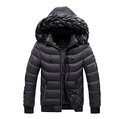 Ropa de trabajo de los hombres de algodón acolchado ropa de los hombres de longitud media engrosada de algodón acolchado chaqueta