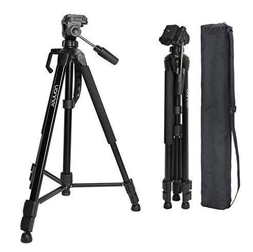 Kamera Stativ Tripod 172cm 67.7 Zoll Aluminum Reisestativ Kompakt 360° Panorama Fotostativ Uonner für Smartphone DSLR SLR Canon Nikon Sony mit Tragetasche (Kamera 172cm max)