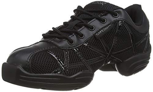 Capezio Damen Websneaker Sneaker, Schwarz/Schwarzem, 34 EU