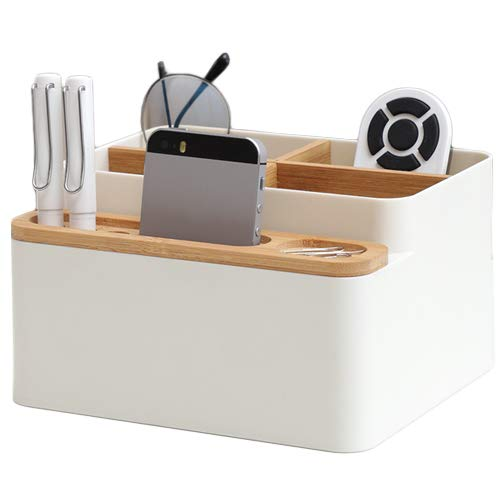 Poeland Desktop Storage Box Pencil Pen Holder Makeup Brushes Organizer for Office Supplies, Vanity Table, Home