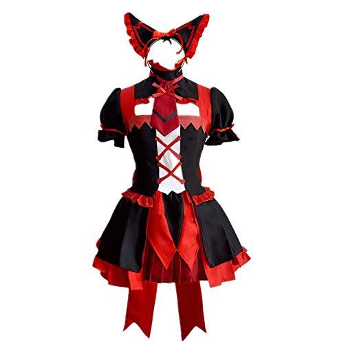 CHANGL 6PCS / Set Novedad Cosplay para Trajes de Fiesta Gate: Jieitai Kanochi Nite/Kaku Tatakaeri Rory Mercury Lolita Vestido gótico Trajes de Falda Lindos con Accesorios