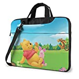 Winnie The Pooh Laptop Tote Bag Tablet Briefcase Ultra Portable Computer One Shoulder Shockproof Laptop Bag15.6 Inch