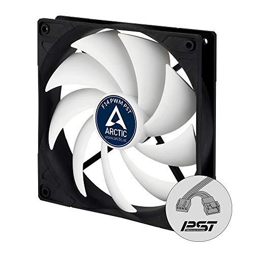 ARCTIC F14 PWM PST - 140 mm Ventilateur Haute Performance, Ventilateur Boitier, Refroidisseur Silencieux pour Unité Centrale, Fonction de Partage PST, 200-1350 RPM - Noir/Blanc
