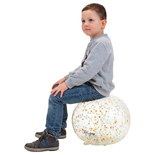 Sport-Tec Sit'n Gym Sitzball Gymnastikball Yogaball Bürostuhl Büroball Gymball, 35 cm BUNT