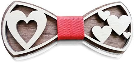 HatynkaUA Wooden Bow Tie 3D Unique Design Holiday Wedding Wood Bowtie Perfect Wooden Mens Necktie product image