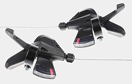 Bicicleta Shifter 1 par de aleación de aluminio dedo Dial transmisiones 8 velocidad velocidad montaña transmisión