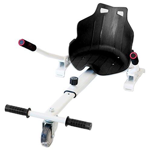 Hiboy-Asiento Kart para Patinete Eléctrico, Silla de Hoverboard Self Balancing Compatible con Todos los Patinetes Eléctricos de 6.5, 8 y 10 Pulgadas, Blanco