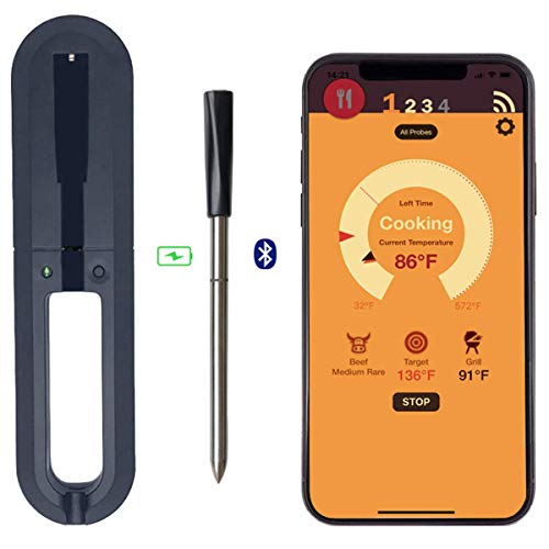 DESPFUL Wireless Meat Thermometer - 33ft Range True Smart Bluetooth Connectivity Flesh Thermometer...