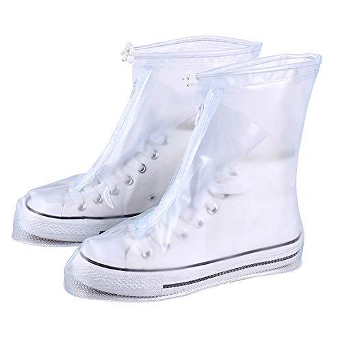 Weikeya Regen Schuhe Bezüge Wiederverwendbar Überschuhe Faltbar Antirutsch Schuhe Schutz für Wandern Sports Zelten Garten Fahrrad 1 Paar, Viele Größe - Wie abgebildet, XXXL