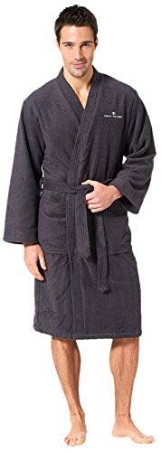 TOM TAILOR 0100300 Kimono Bademantel  (Baumwolle/Polyester) XL, dunkelgrau