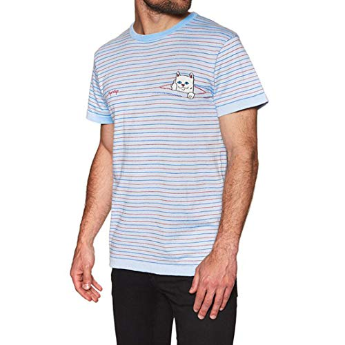 Ripndip Peeking nermal Knit Tee (Baby Blue/Red)
