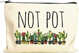 Not Pot Makeup Bag, Marijuana Gift, Pot Gift, Weed Gift, Stash Box, Stash Bag, Cosmetic Pouch, Travel Case, Makeup Clutch, Cosmetic Bag
