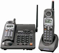 Panasonic KX-TG2357B 2.4 GHz DSS Cordless Phone with Dual Handsets, Answering System, and Talking Caller ID (Black)