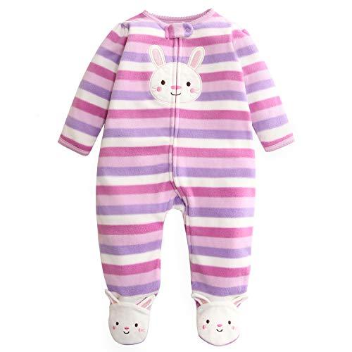 Baby Overall Vlies Strampler Niedlich Pyjama Frühling/Herbst/Winter Onesies Body 6-9 Monate