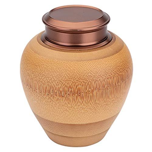 JCSW Vorratsdosen Bambus mit Deckel Luftdicht, Kaffeedose Aufbewahrungsbox Küche Vorratsdosen, Frischhaltedosen Gewürzgläser BPA Frei für Aufbewahrung Küche, 400 ml, TYU111UYT