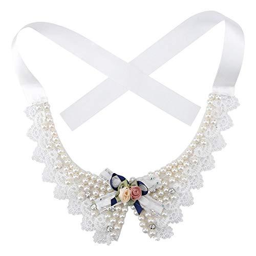 Pet Schöne Perlenkette, Teddy Einstellbare Fliege mit Perle Hunde Halsband Hochzeit Haustiere Kopfbedeckungen für Haustiere Katzen Hunde Welpen Kitty Kätzchen