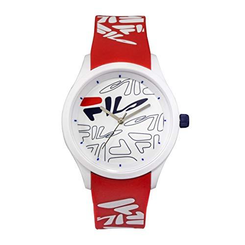 OROLOGIO FILA Analog Watch - Watches for Women - Womens Watches - Cool Watches for Men - Mens Wrist Watch - Running Watch - Unisex Watch - Fila Watches for Men - Red & White Fila Watch