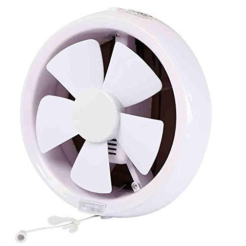 RJSODWL Lámpara de Cocina de baño Redonda.Tubo de Pared de Vidrio Negro Tipo Ventilador de ventilación Extractor de baño de 8 Pulgadas