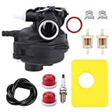 BQBS 799583 Carburetor for Briggs & Stratton Briggs & Stratton 09P602 9P602 500E Series 4-Cycle Vertical Engine Toro Craftsman MTD Lawn Mower Edger with 799579 Air Filter Kit