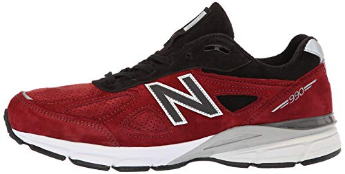 New Balance M990-bk4-d Chaussures de Sport pour Homme, Vert, 45 EU - Rouge - Rouge, 41.5 EU
