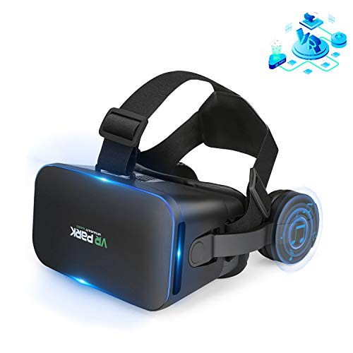 VR Headset Compatible with iPhone and Android Phones - Universal 3D Virtual Reality Goggles - Adjustable VR Glasses Set for Kids and Adults
