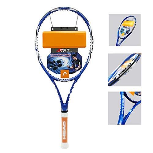 Raquetas De Tenis for Principiantes Masculina Y Femenina De Carbono Completo Utilizada for Juegos Familiares Al Aire Libre Deportes Azul (Color : Blue, Size : 69cm/27 Inches)