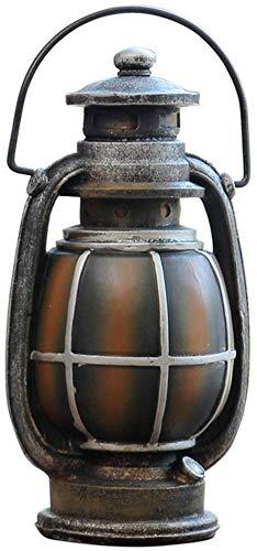 WANNA.ME Inicio Vintage Lámpara de Queroseno Caja de Dinero Resina Artesanía Banco de Dinero Hucha Moneda Ahorro Ahorro Almacenamiento Decoración de Escritorio Niños Regalo Creativo, Oro
