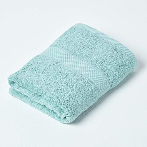 HOMESCAPES Toalla de mano de algodón turco, color verde menta, muy suave y absorbente, 500 g/m², peso pesado para todos los días 🔥