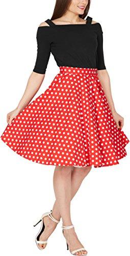BlackButterfly Polka-Dots 1950er-Jahre Swing Tellerrock (Rot, EUR 42 – L) - 4