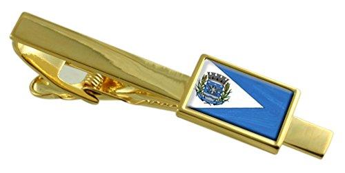 Città Italva Rio de Janeiro Bandiera dello stato Oro Clip inciso personalizzato