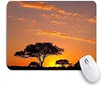 ECOMAOMI 可愛いマウスパッド アフリカの日没-セバスチャン-音楽 滑り止めゴムバッキングマウスパッドノートブックコンピュータマウスマット