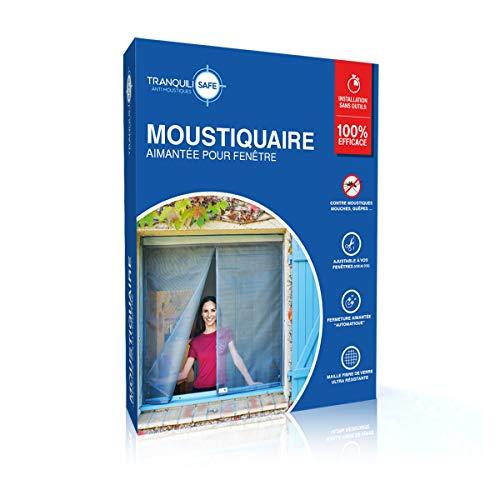 Mosquitera ajustable magnética tranquilisafe® para ventana estándar y sobre medida - Pantalla antimosquitos y anti moscas - Mosquitera automática (ANCHO 120/136 - ALTURA 115/123) …