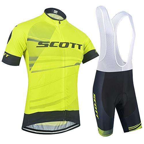 XIAKE Completo Abbigliamento Sportivo Ciclismo Uomo Estive, Maglia Bici Maniche Corte con Pantaloncini Bicicletta per MTB Ciclista